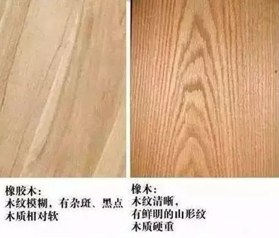 橡木门和橡胶木门