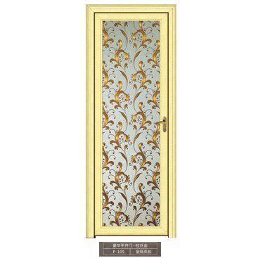 铝合金平开门佛山门厂钛镁铝合金平开门铝合金洗手间门恒高清图片