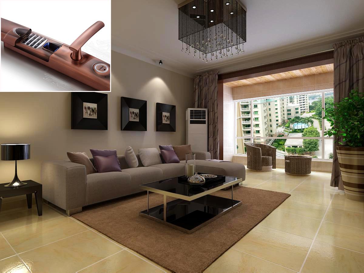 房子装修7种风格,搭配指纹锁有技巧