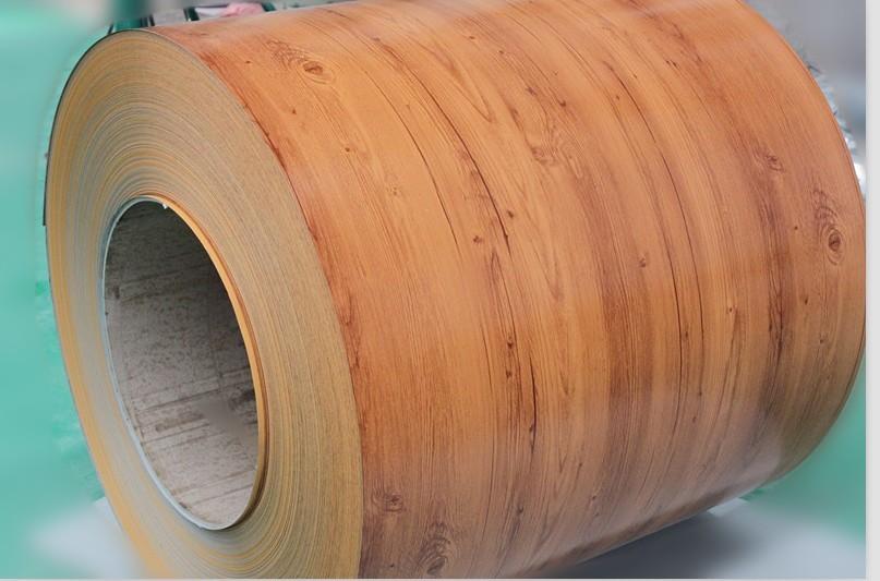松木木纹彩涂钢板 tdc51d