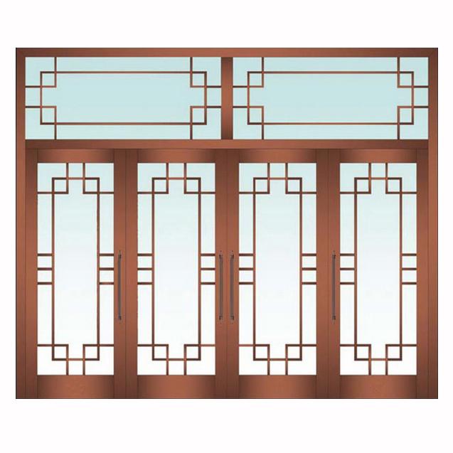 中式餐厅装修换大门