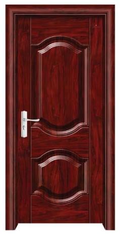 门业图片-钢木室内门钢木门fl-8083(经典红木
