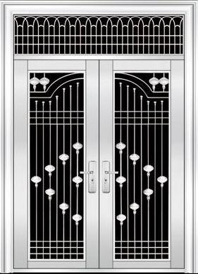 不锈钢防盗门:欧式别墅门