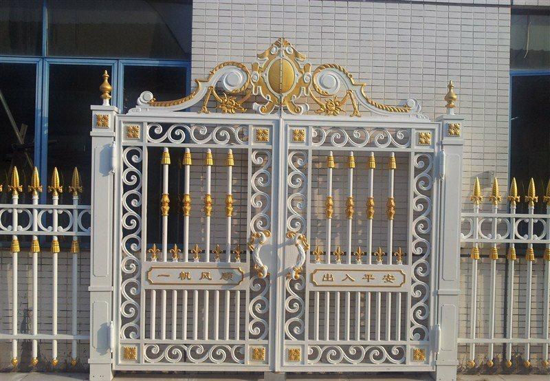杭州别墅铸铝门厂家 庭院门