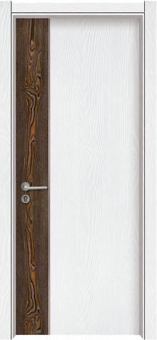 门业图片-拼装木门浮雕白橡lmx-8005图片