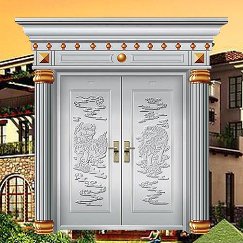 门业图片-不锈钢豪华大门系列at-豪华别墅大门001at