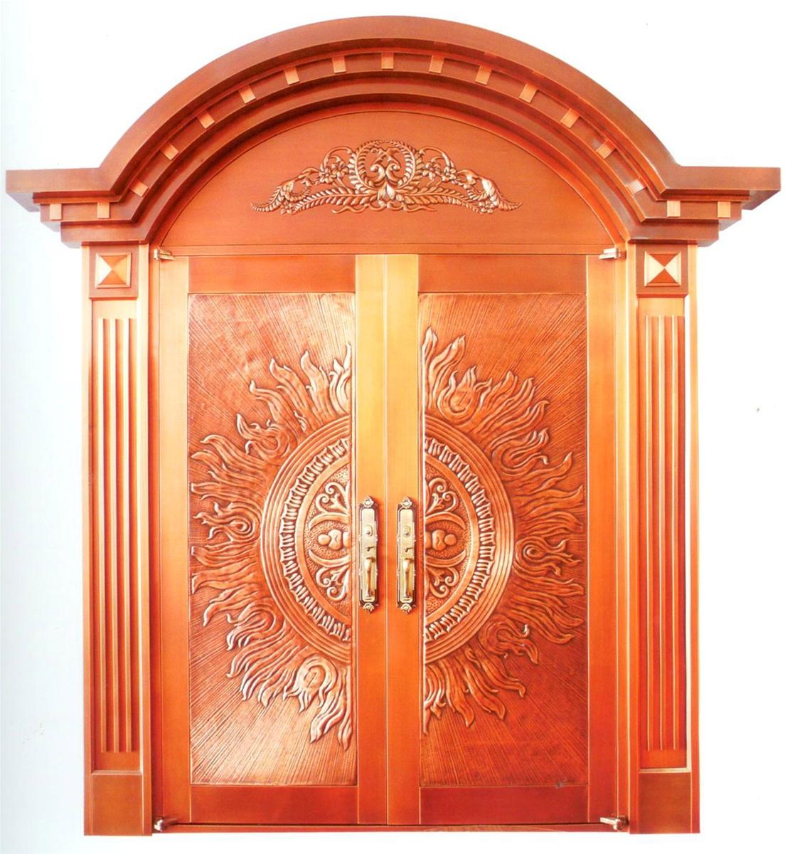 供应紫铜大门 双开铜门 别墅大门 仿古铜门 自定义
