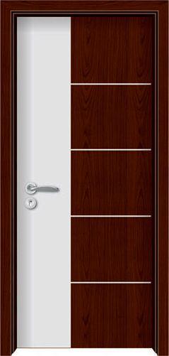 门业图片-烤漆强化木门zy-1038 纯白配红木zy-1038 纯白配红木图片