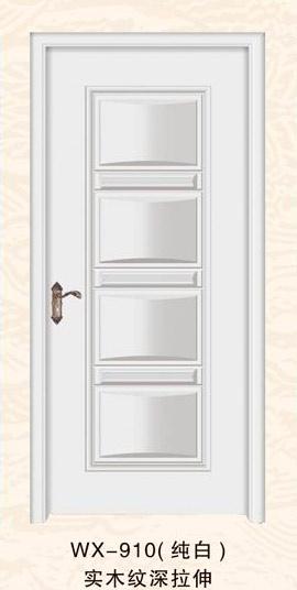 高档实木纹室内门 mg-910(纯白)